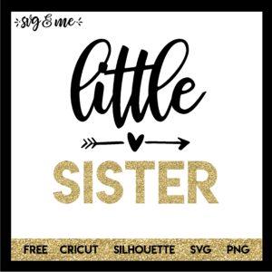 Free SVG Little Sister