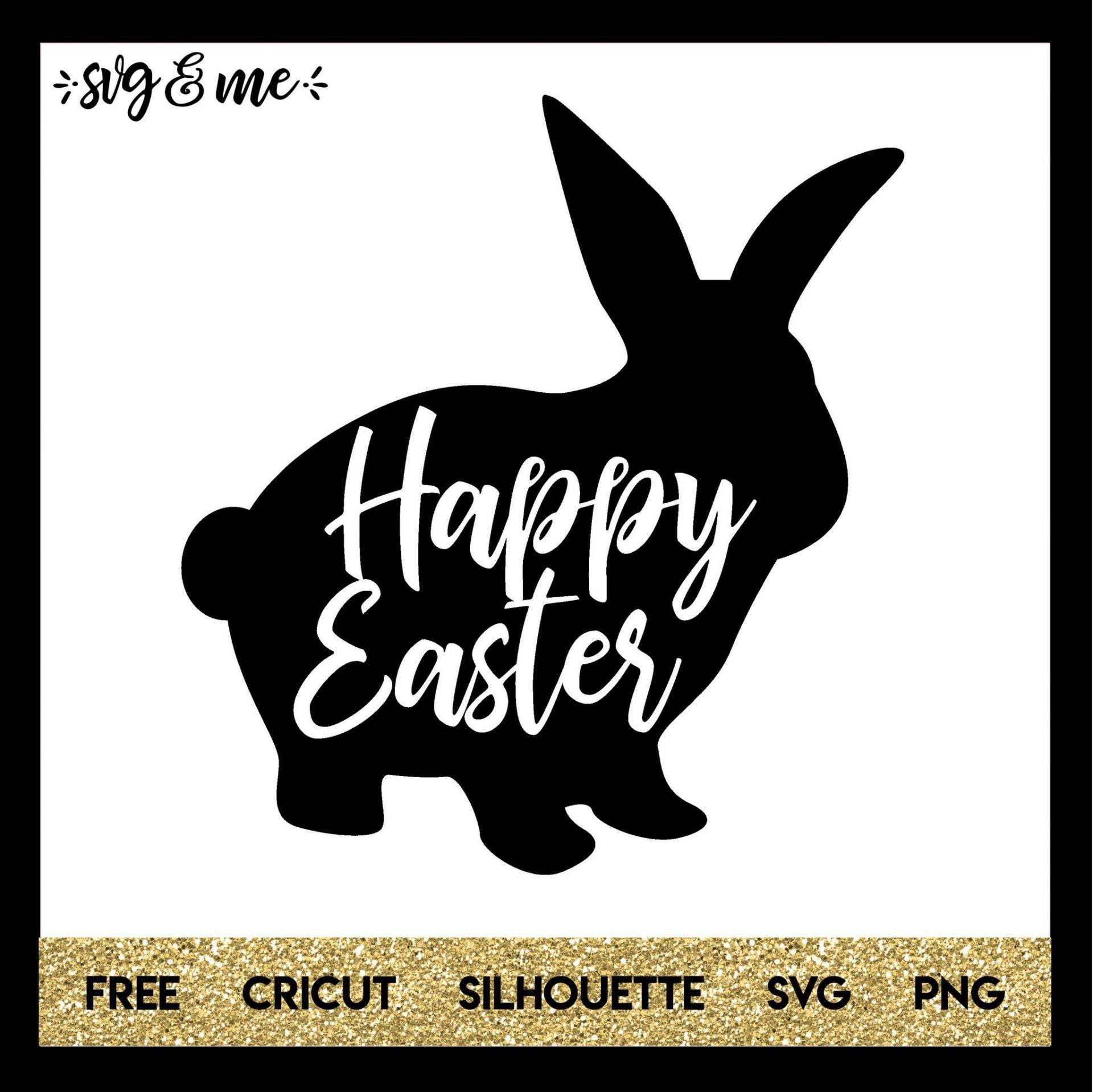 Download Free Happy Easter Bunny SVG - SVG & Me