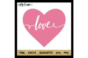FREE SVG CUT FILE for Cricut, Silhouette and more - Love Heart Cut Out Valentine's Day SVG