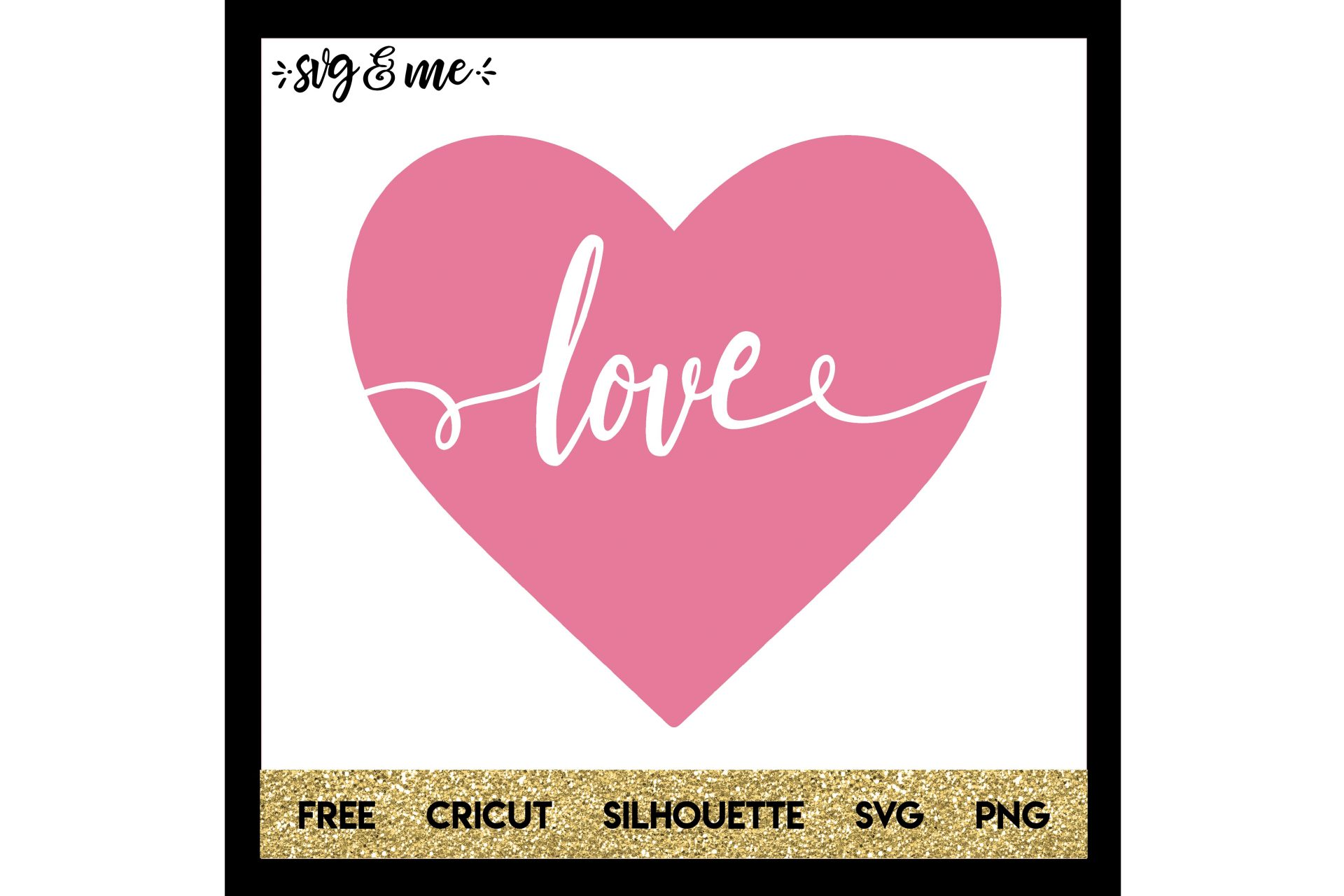 Free Svg Cut File For Cricut Silhouette And More Love Heart Cut