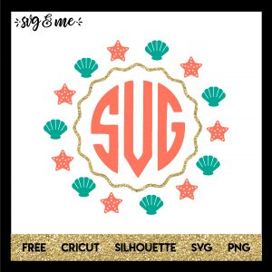 FREE SVG CUT FILE for Cricut, Silhouette and more - Mermaid Frame SVG