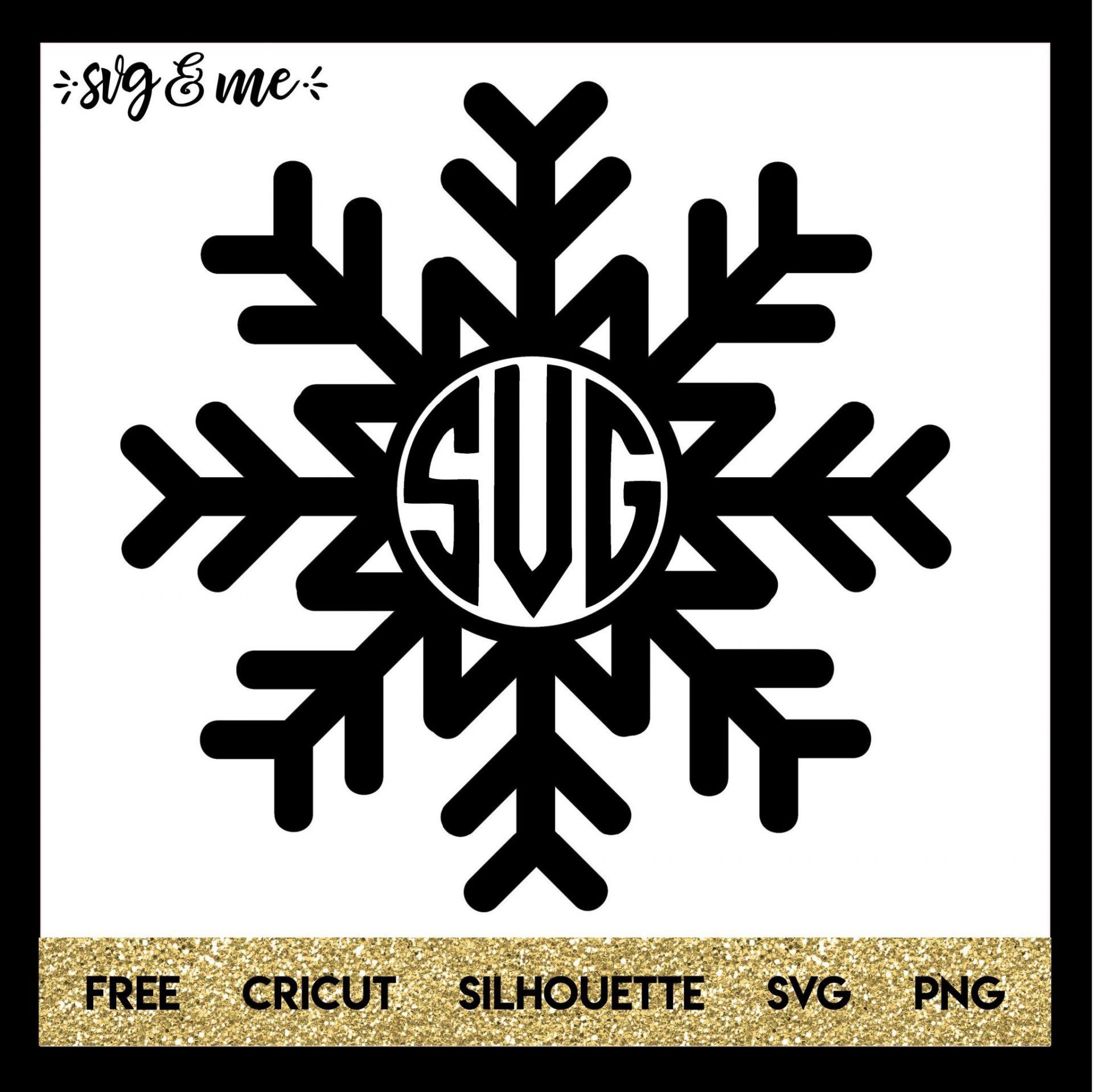 Monogram Snowflake For Winter Svg Me