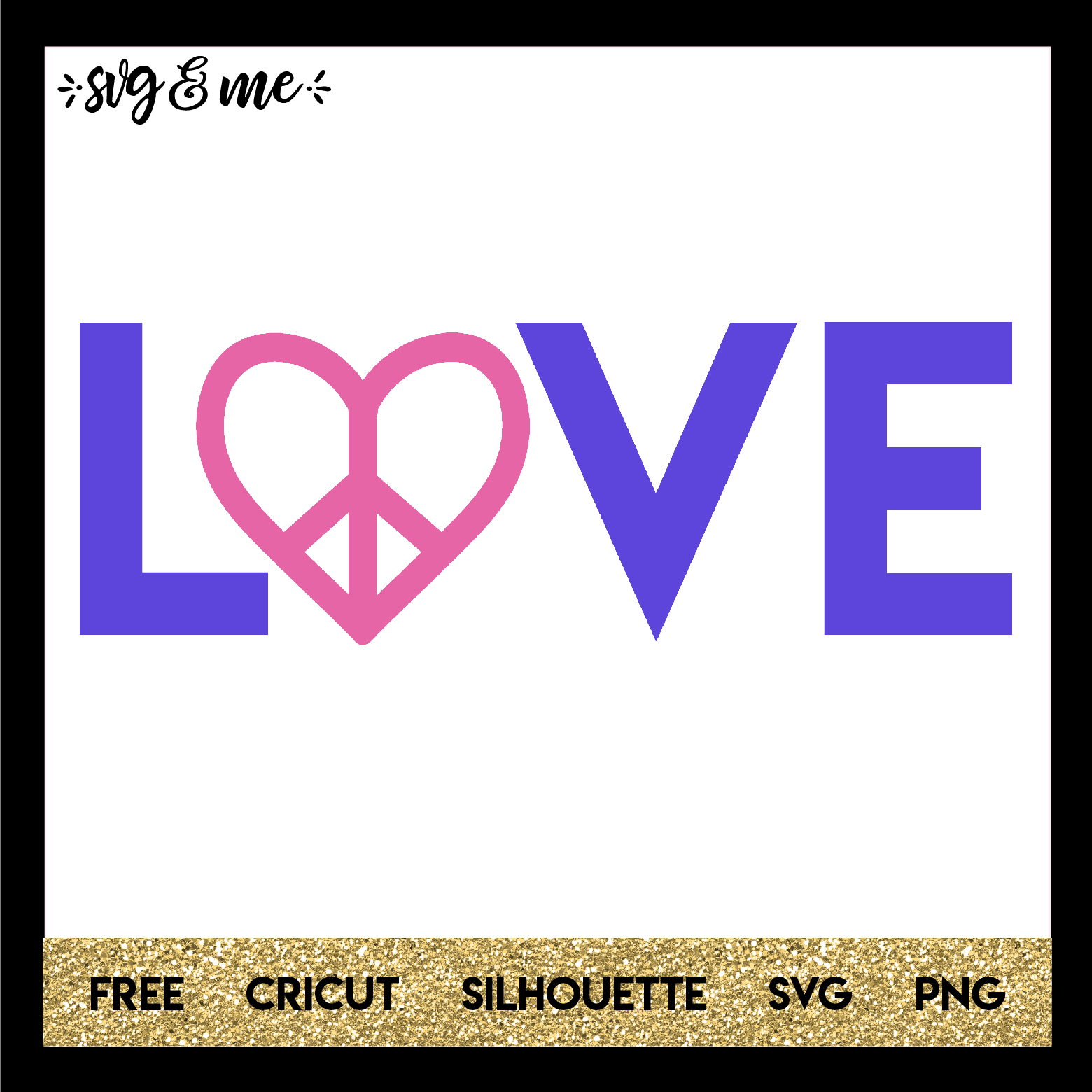Free Svg Cut File For Cricut Silhouette And More Peace Love Svg Svg Me