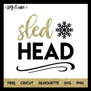 FREE SVG CUT FILE for Cricut, Silhouette and more - Sled Head