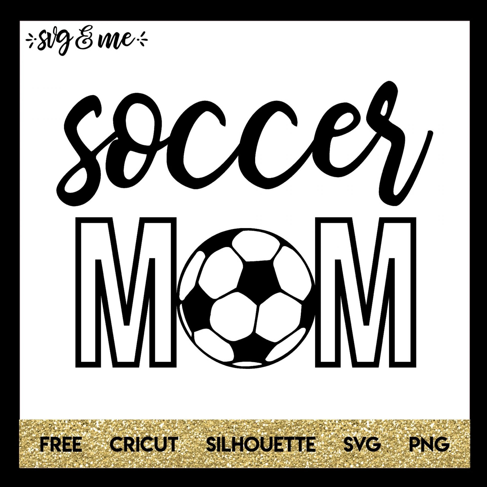 Free soccer mom svg cut file that is perfect to make shirts or other gear for your kids next game day you can even make a car decal