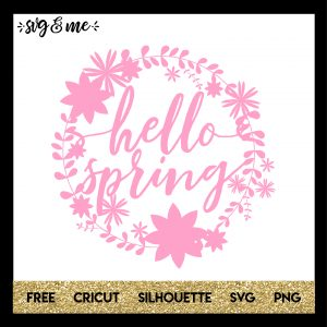 FREE SVG CUT FILE for Cricut, Silhouette - Hello Spring Paper Cut Out SVG