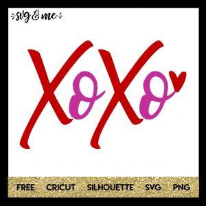 FREE SVG CUT FILE for Cricut, Silhouette and more - XOXO Valentine's Day