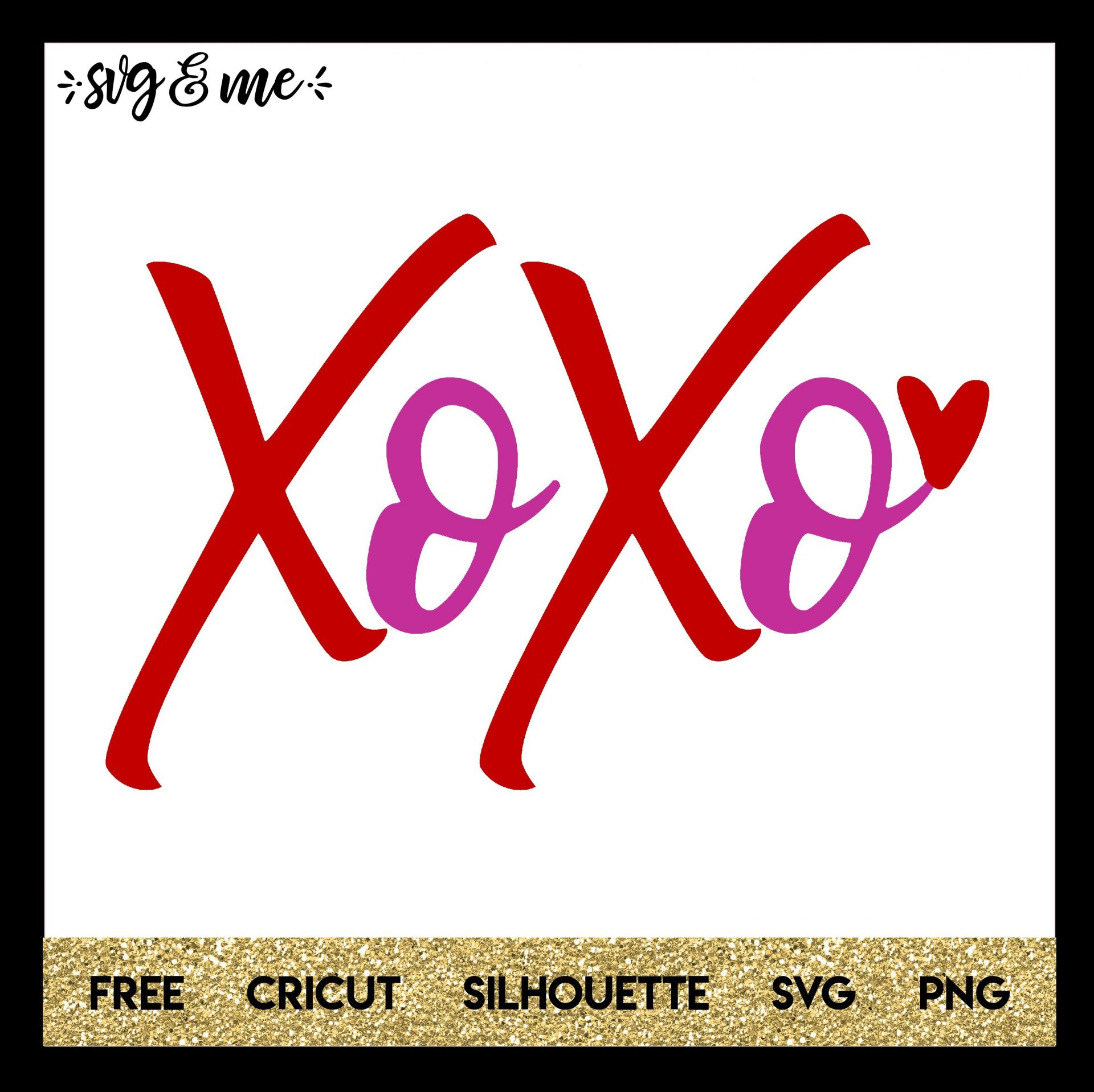 FREE SVG CUT FILE for Cricut, Silhouette and more - XOXO Valentine's Day