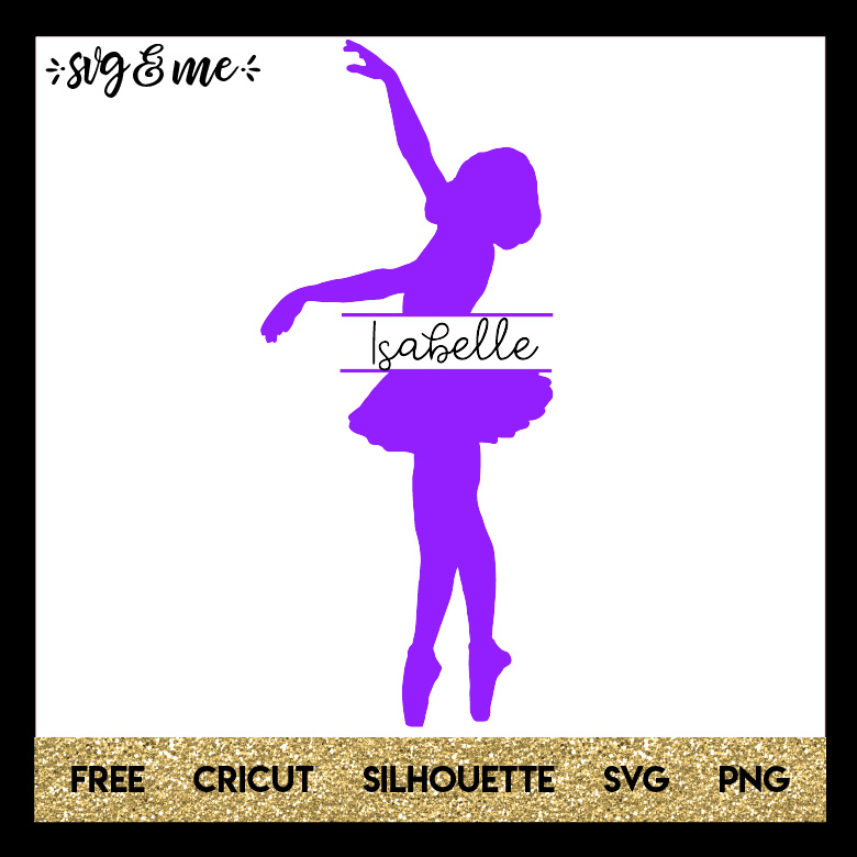 FREE SVG CUT FILE for Cricut and Silhouette DIY Projects - Ballerina Split Monogram SVG