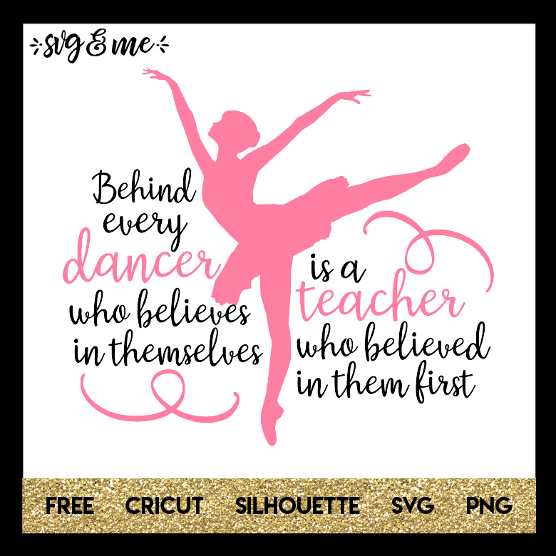 Dance Teacher Quote - SVG & Me