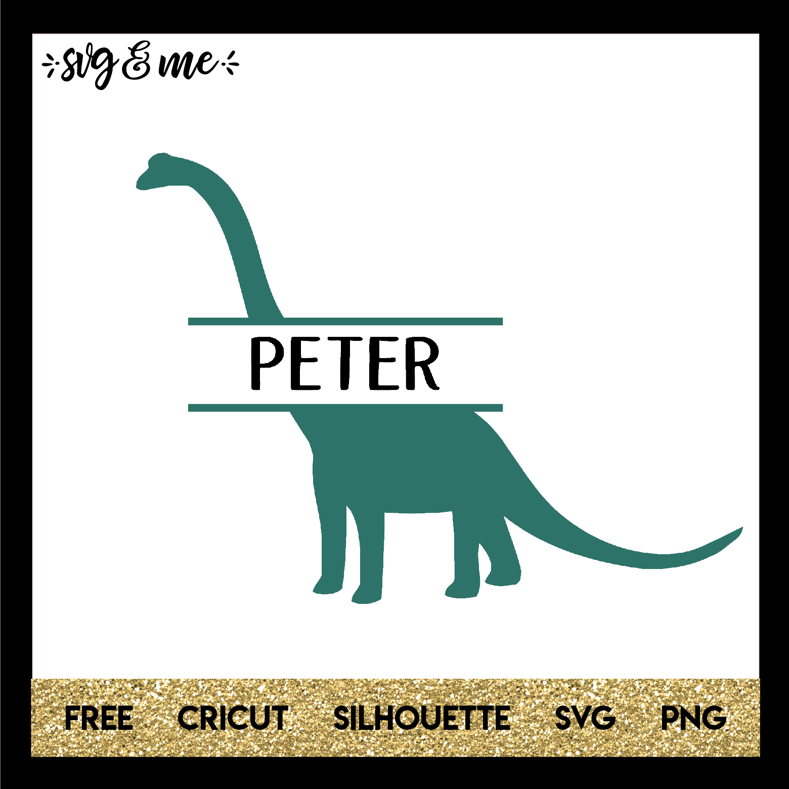 Download Dinosaur Split Monogram - SVG & Me