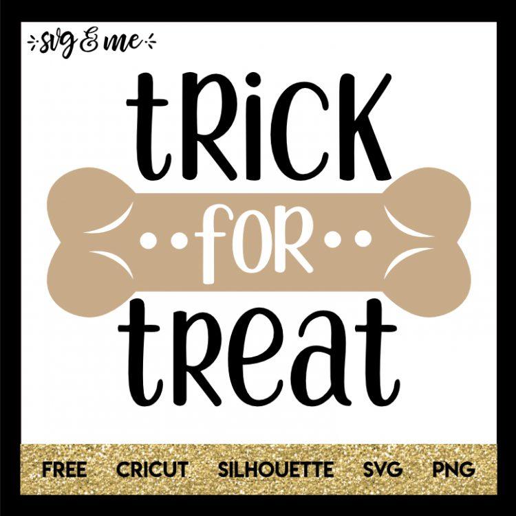 Trick Or Dog Treat Svg Me