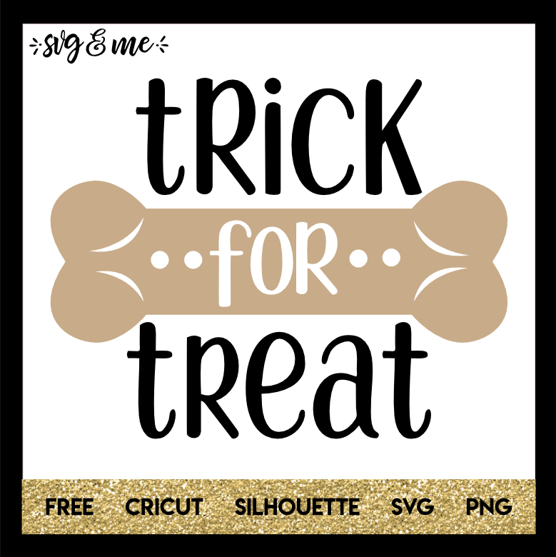 FREE SVG CUT FILE for Cricut and Silhouette DIY Projects - Trick or Treat Dog SVG