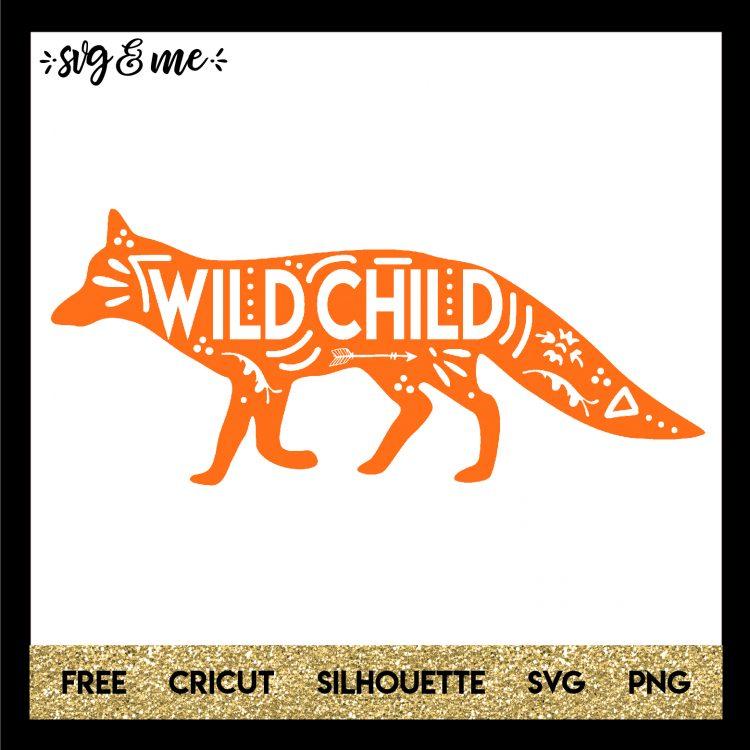 Boho Wild Child Fox - SVG & Me
