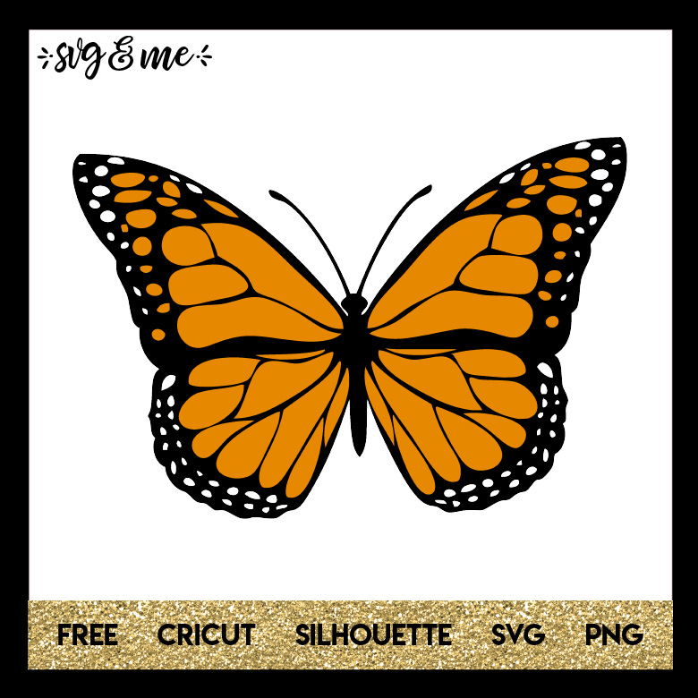 monarch butterfly svg me