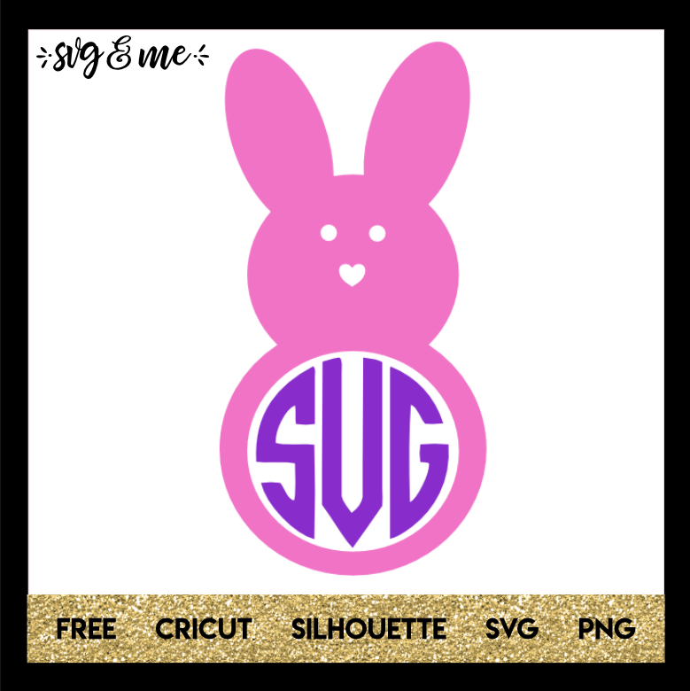FREE SVG CUT FILE for Cricut and Silhouette DIY Projects - Peep Easter Bunny Monogram SVG