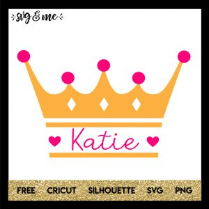 FREE SVG CUT FILE for Cricut and Silhouette DIY Projects - Princess Crown Split Monogram SVG