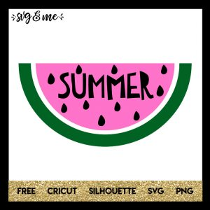 FREE SVG CUT FILE for Cricut and Silhouette DIY Projects - Summer Watermelon SVG