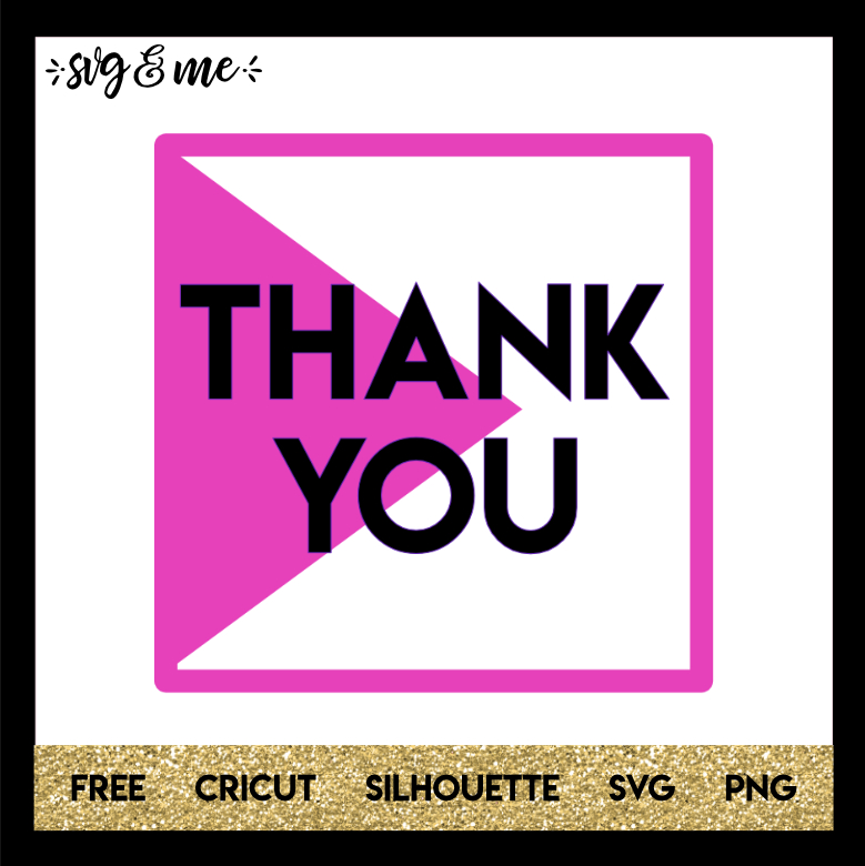 FREE SVG CUT FILE for Cricut and Silhouette DIY Projects - Thank You Geo SVG