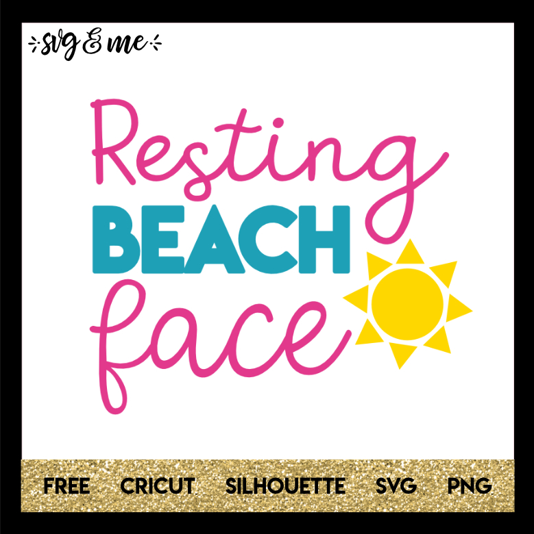 Free SVG Resting Beach Face - SVG & Me