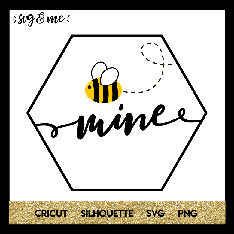 FREE SVG CUT FILE for Cricut, Silhouette - Bee Mine Valentine's Day SVG
