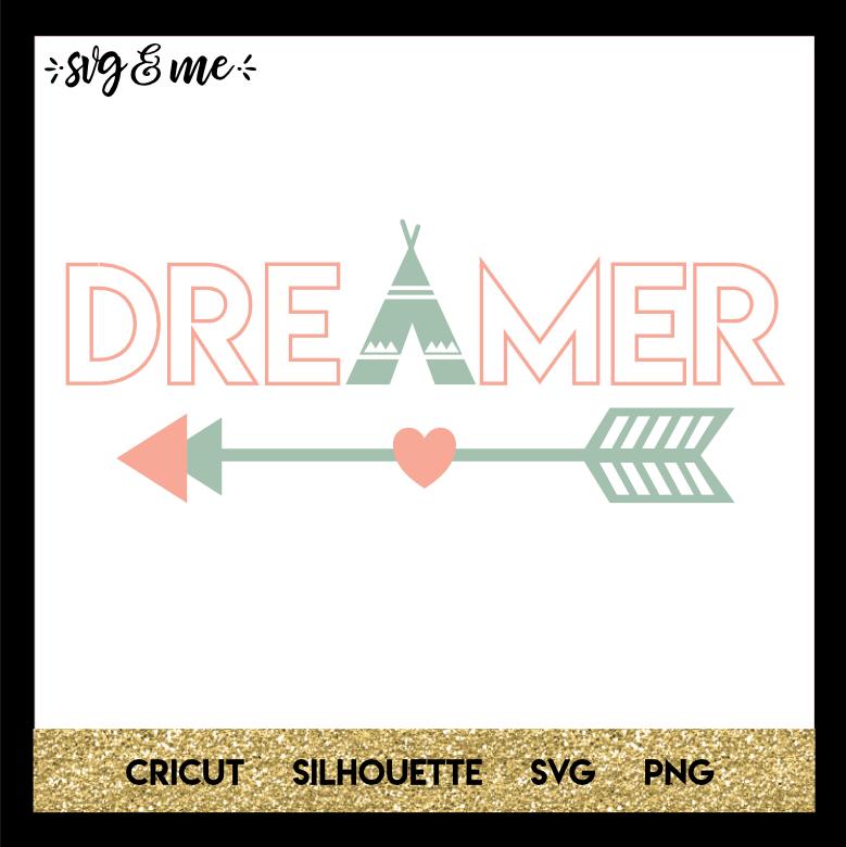 FREE SVG CUT FILE for Cricut, Silhouette - Boho Dreamer SVG