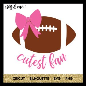 FREE SVG CUT FILE for Cricut and Silhouette DIY Projects - Cutest Football Fan Superbowl SVG