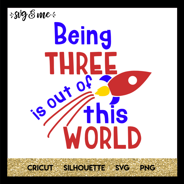 FREE SVG CUT FILE for Cricut and Silhouette DIY Projects - Outer Space Birthday SVG