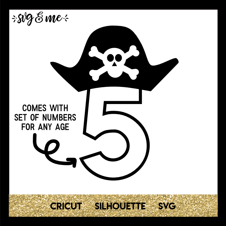 FREE SVG CUT FILE for Cricut, Silhouette and more - Pirate Birthday Party SVG