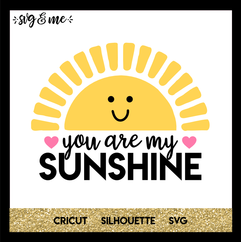 FREE SVG CUT FILE for Cricut, Silhouette and more - You are My Sunshine Kids SVG