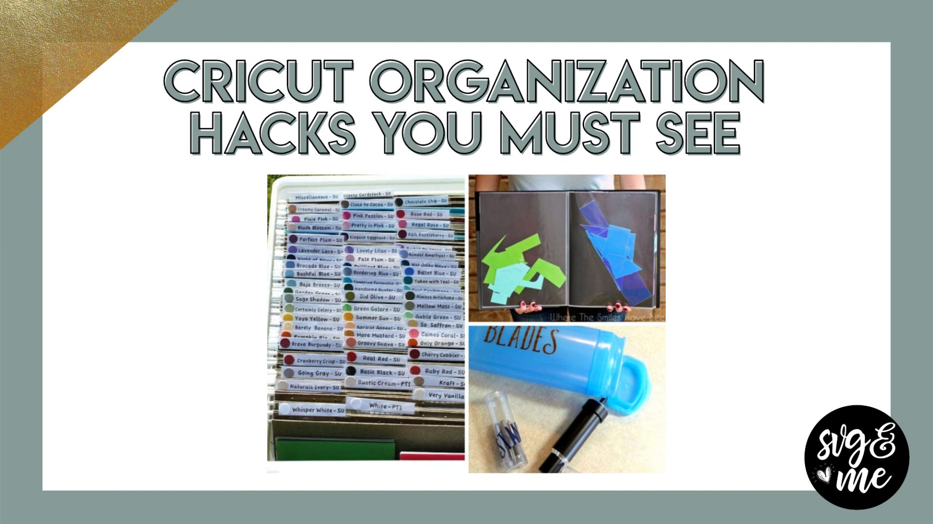 11 Genius Cricut Organization Hacks For All Your Supplies Svg Me