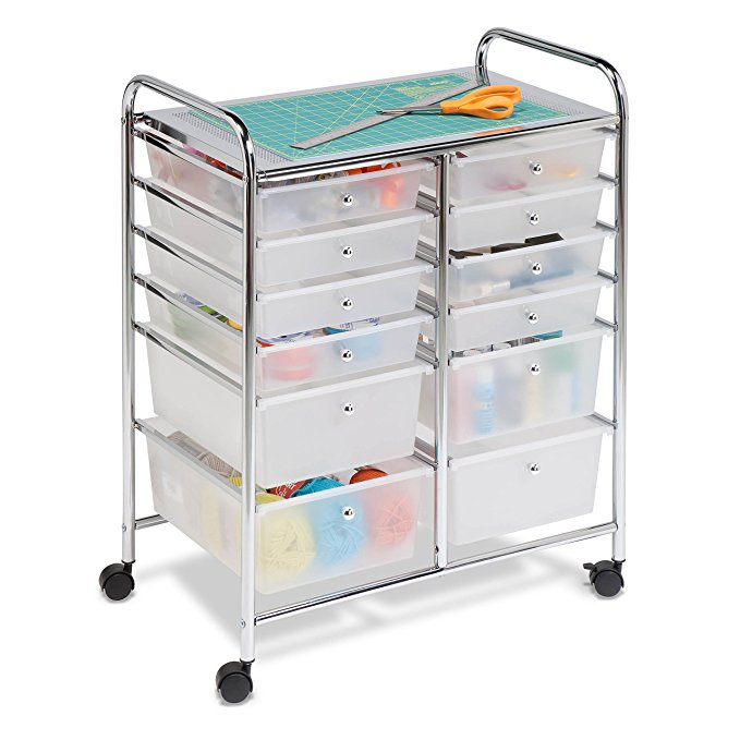 Cricut Organization Hacks: Rolling Craft Cart