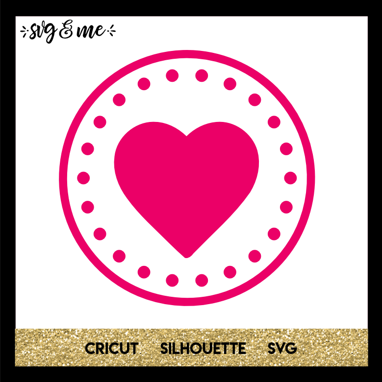FREE SVG CUT FILE for Cricut, Silhouette and more - Simple Heart SVG for Beginners