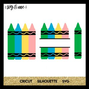 FREE SVG CUT FILE for Cricut, Silhouette and more - Crayons Back to School SVG