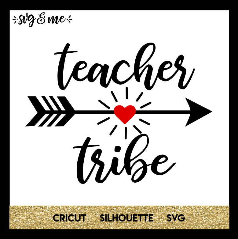 FREE SVG CUT FILE for Cricut, Silhouette and more - Teacher Tribe SVG