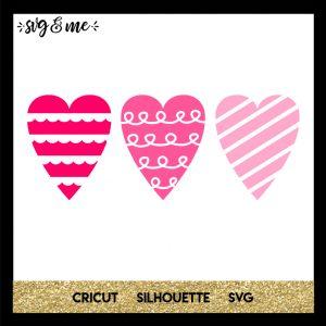 FREE SVG CUT FILE for Cricut, Silhouette and more - Heart Trio Valentine's Day SVG