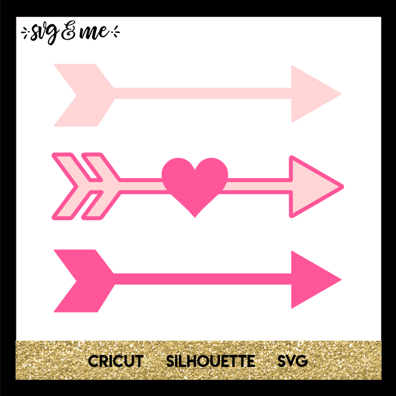 FREE SVG CUT FILE for Cricut, Silhouette and more - Heart Arrows SVG